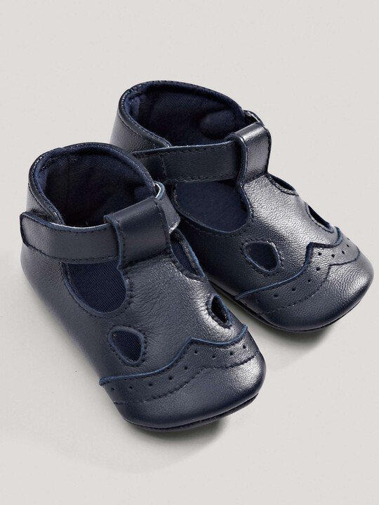 Navy Leather Shoes image number 3
