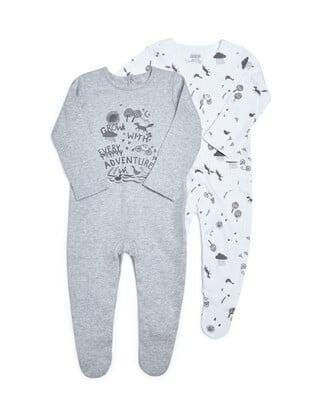 Adventure Jersey Sleepsuits - 2 Pack
