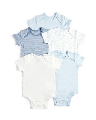 5 Pack Bodysuits Blue