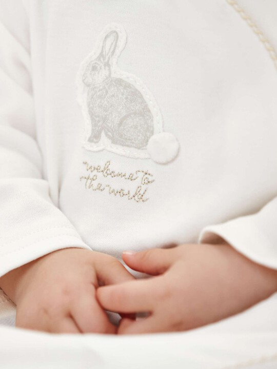 Bunny Applique All-In-One with collar Sand- 0-3 image number 3