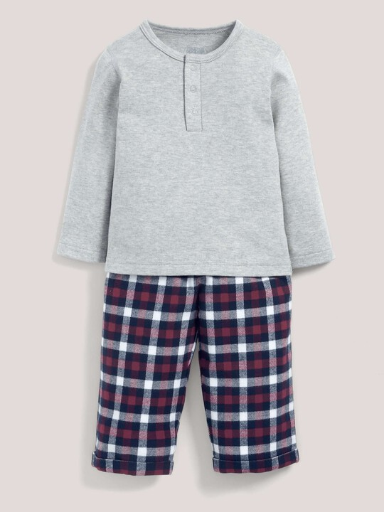 Check Bottom Pyjamas Grey/Navy- 12-18 months image number 1