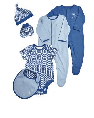 6 Piece Blue Clothing Set
