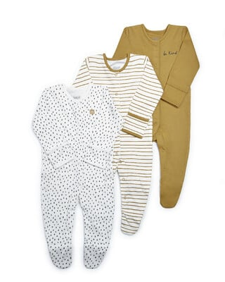 Be Kind Jersey Sleepsuits - 3 Pack