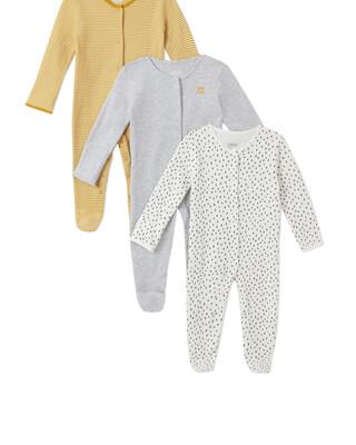 3Pack of  STRPE/SPT Sleepsuits