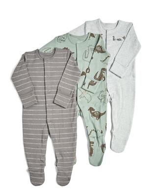 3 Pack of Dinosaur Sleepsuits