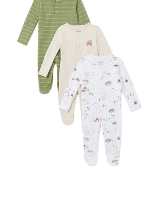 3Pack of  TRACTOR Sleepsuits