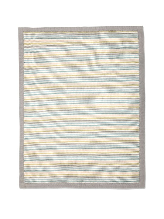 Small Knitted Blanket - Stripe Pastel image number 6