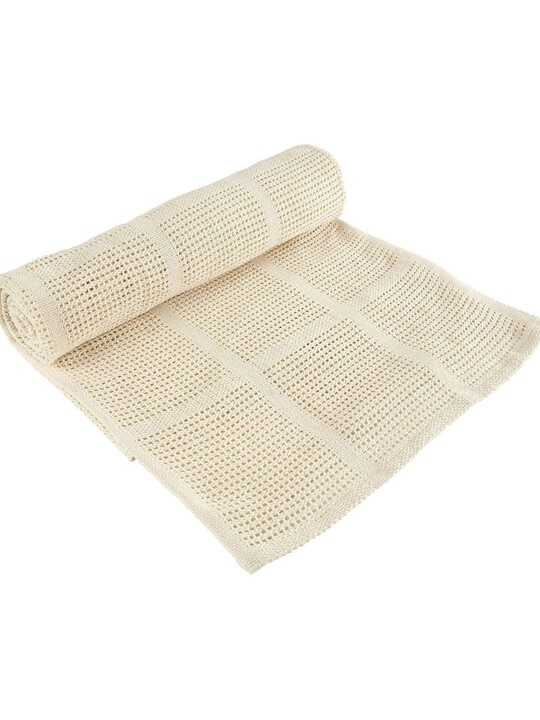 Cream Cellular Blanket - Small image number 2