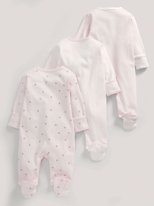 Essentials Three Pack of Pink All-in-Ones image number 4