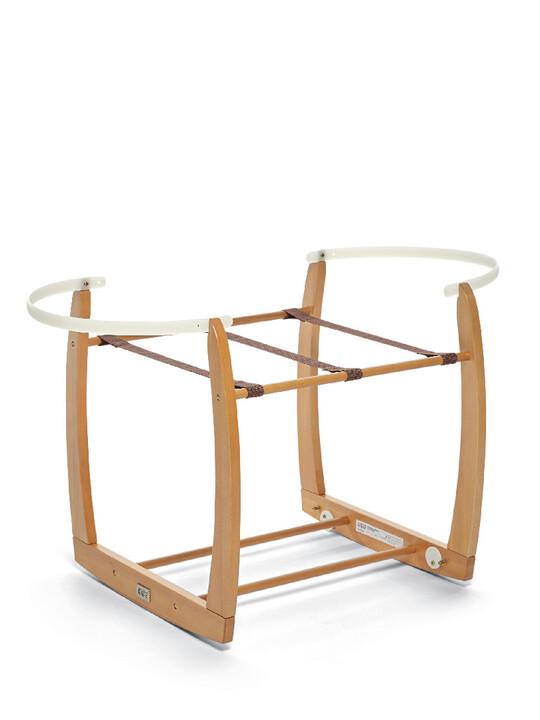 Rocking Moses Basket Stand - Natural image number 2