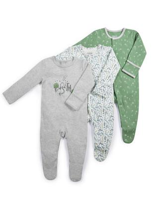 House & Tree Sleepsuits - 3 Pack