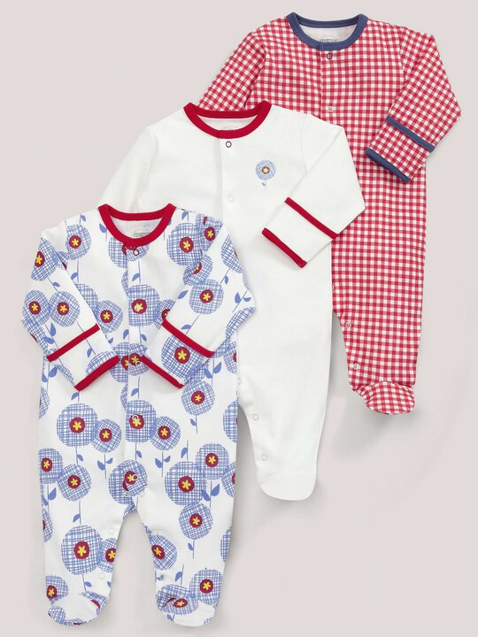 3 pack Nautical Print All-In-Ones image number 1