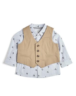 2 Piece Printed Shirt & W/Coat