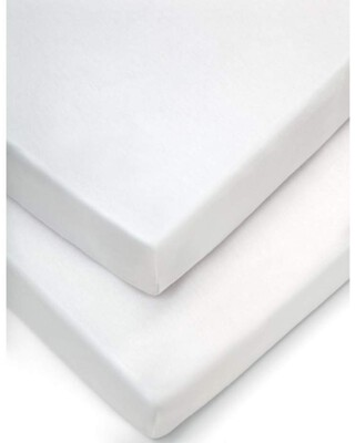 Cotbed Fitted Sheets (Pack of 2) - White
