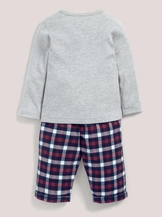 Check Bottom Pyjamas Grey/Navy- 12-18 months image number 3