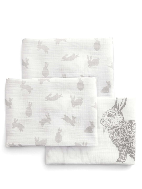 Large Muslin Squares (Pack of 3) - Welcome to the World - 90 x 90cm image number 1