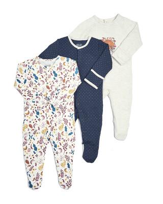 Fox Sleepsuits - 3 Pack