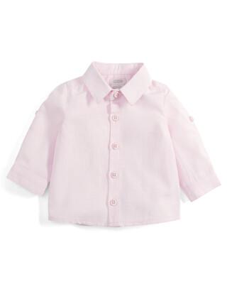 Pink Long Sleeve Cotton Shirt