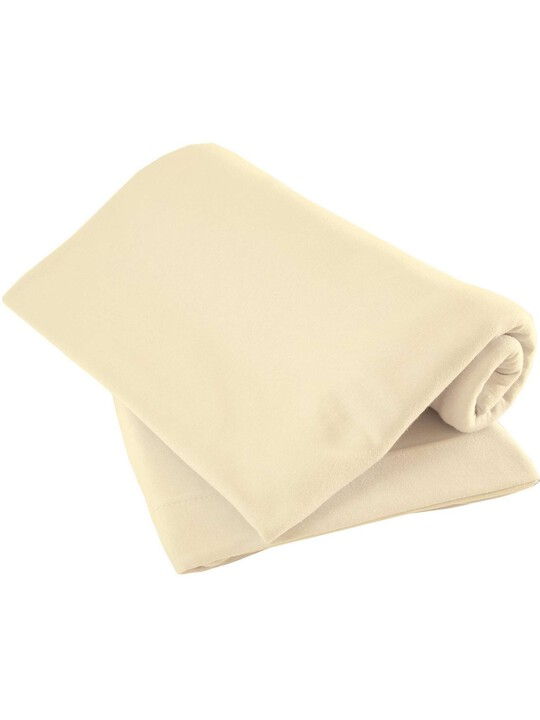 Cream Pack of Two Fitted Sheets - Moses image number 1