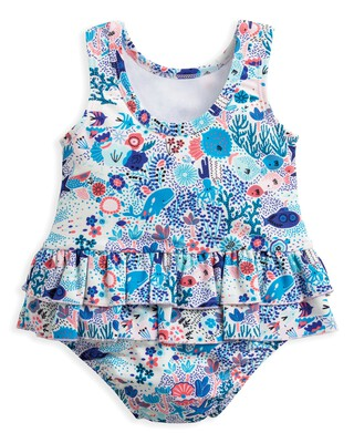 Under The Sea Printed Swimsuit