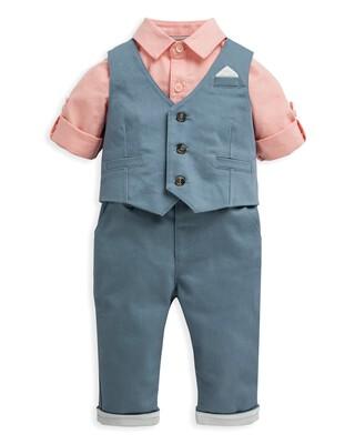 3 Piece Waistcoat, Shirt & Trousers