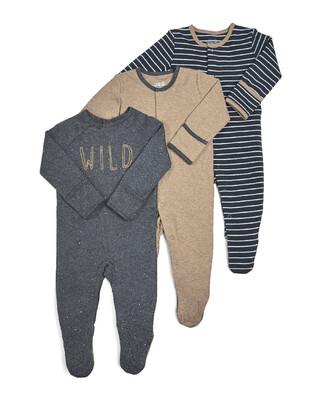 Wild Sleepsuits - 3 Pack