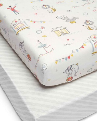 Cotbed Fitted Sheets (Pack of 2)