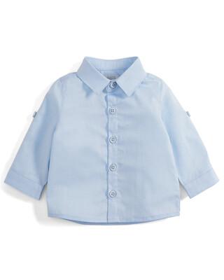 Blue Long Sleeve Cotton Shirt
