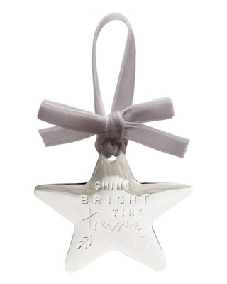 Forever Treasured Hanging Star - Silver