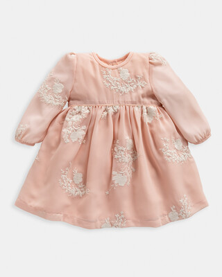 Embroidered Pink Dress